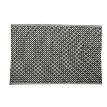 Tapis d'extérieur en polypropylène noir et blanc, Tamari sur Maisons du Monde