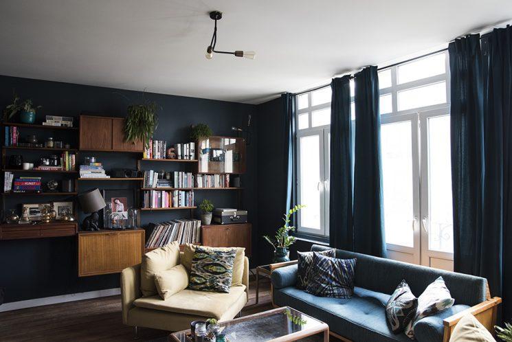 Blue mood en déco || L'appartement de Sarah à Anvers