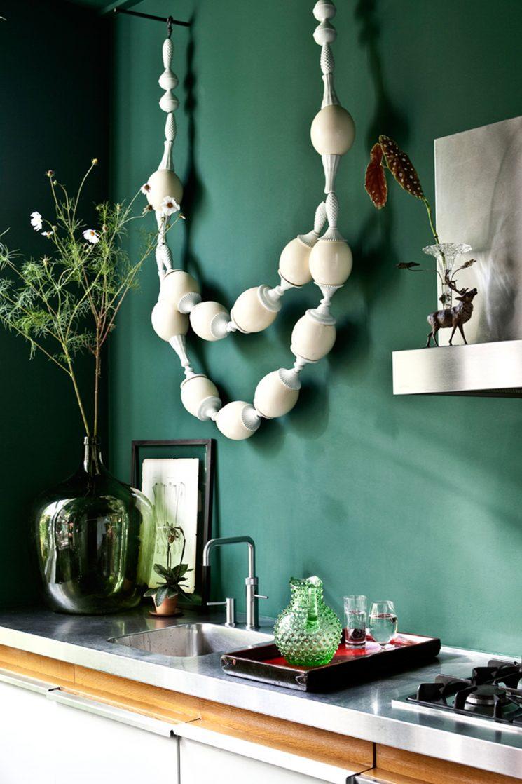 Tendance vert d'eau || Une cuisine vert d'eau bleuté