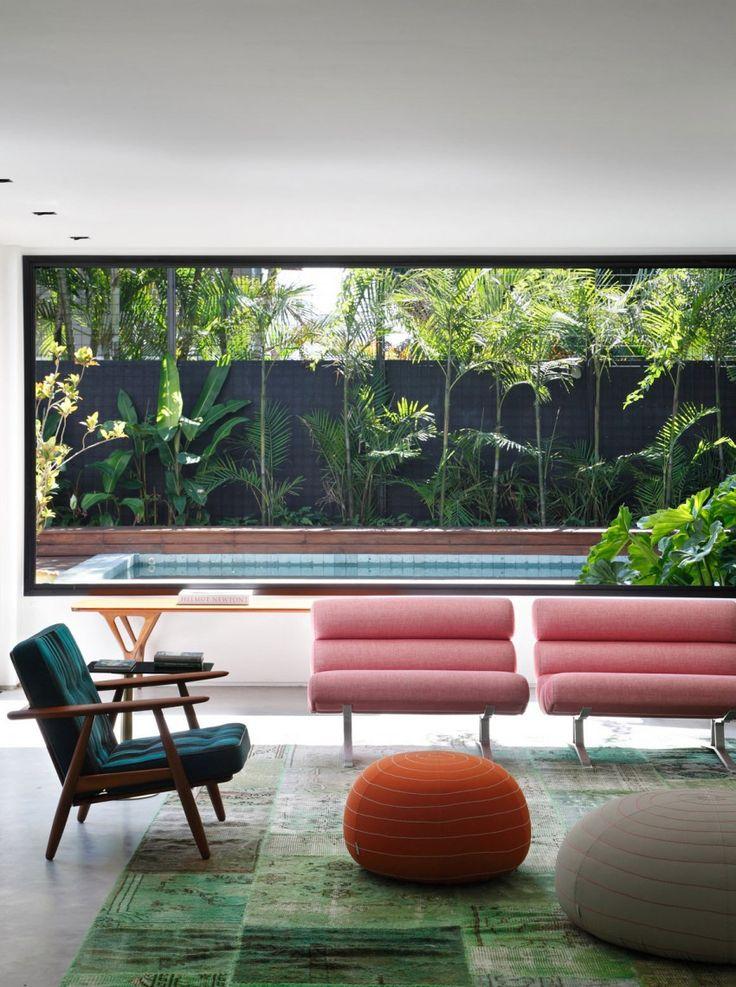 Fauteuils design roses    Guilherme Torres Architect - DM house à Sao Paulo