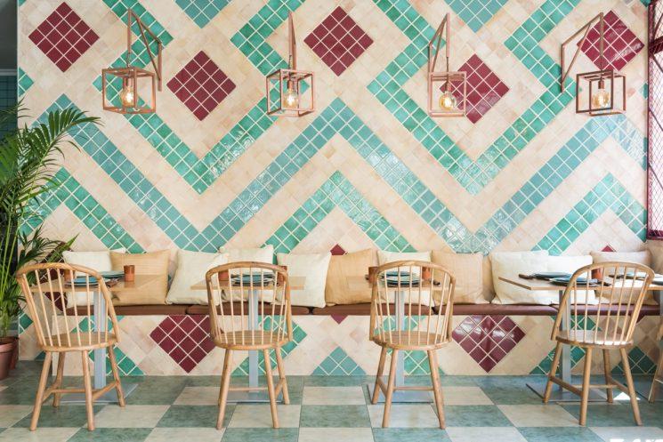 Tendance vert d'eau || Restaurant Albabel à Picaña (Valence) par le Studio Masquespacio