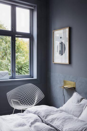 Blue mood en déco || L'appartement de Alessandro D'Orazio et Jannicke Kråkvik à Oslo
