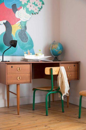 Bureaux d'école vintage... pour les petits et les grands aussi