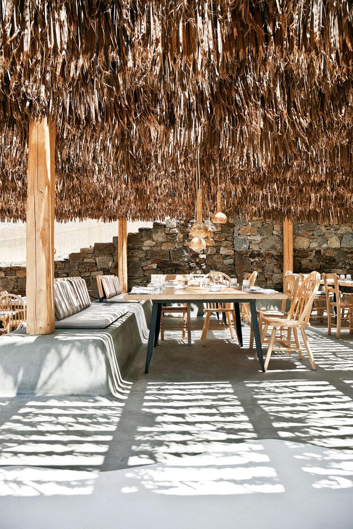 A l'ombre des canisses || Hôtel Alemàgou à Mikonos