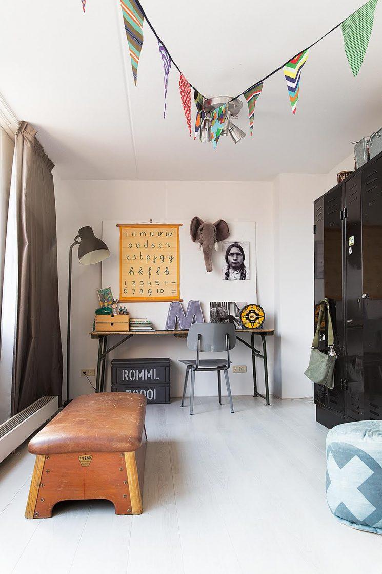 Coin Chambre Dans Petit Salon aménager un coin bureau d'enfant vintage indus