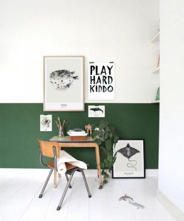 Aménager un bureau dans une chambre de garçon || Visuel My Deer Art Shop