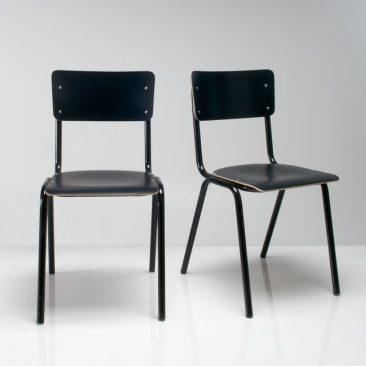 Lot de 2 chaises d'écolier noires, HIBA sur La Redoute Intérieurs