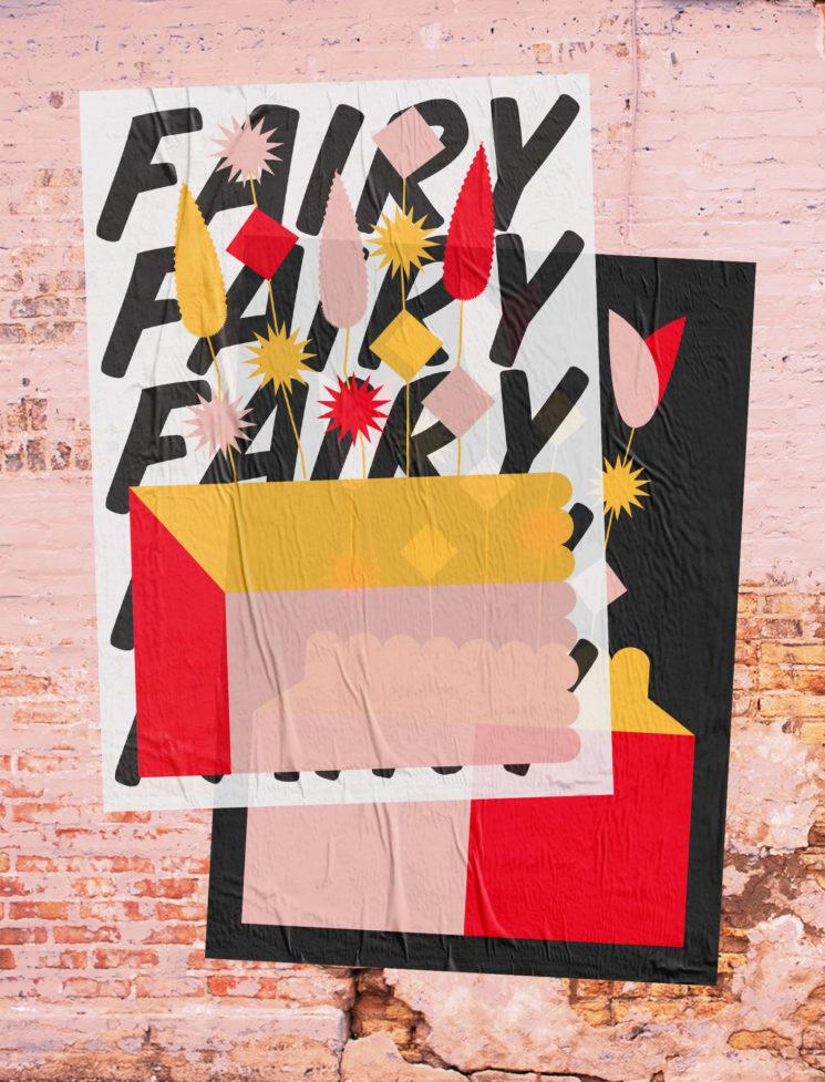 Combo rose et jaune sur la déco    Affiche Magic Plants par Laura Normand