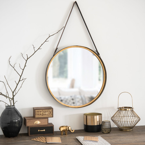 Une chambre hygge for Miroir rond chambre