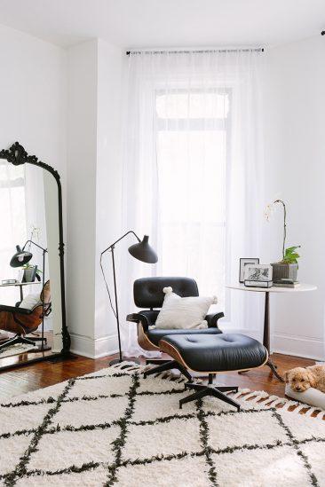 Intérieurs blancs chic et trendy || La maison d'Alaina Kaczmarski à Chicago