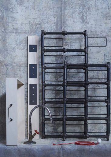 assemblage-m par François Murraciole et son équipe, collection radiateurs et robinets