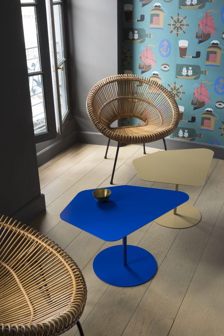 Matière Grise - Tables basses gigognes, Kona, designLuc Jozancy