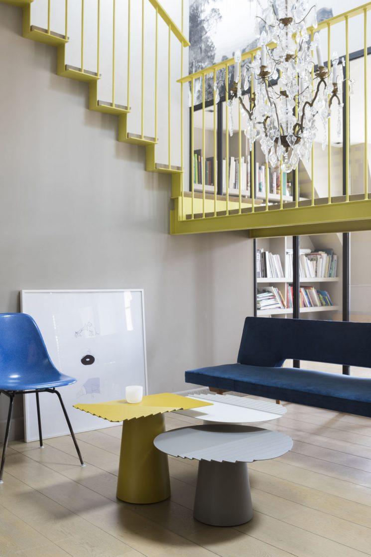 Matière Grise - Tables basses gigognes WIIND, designVictoria Wilmotte
