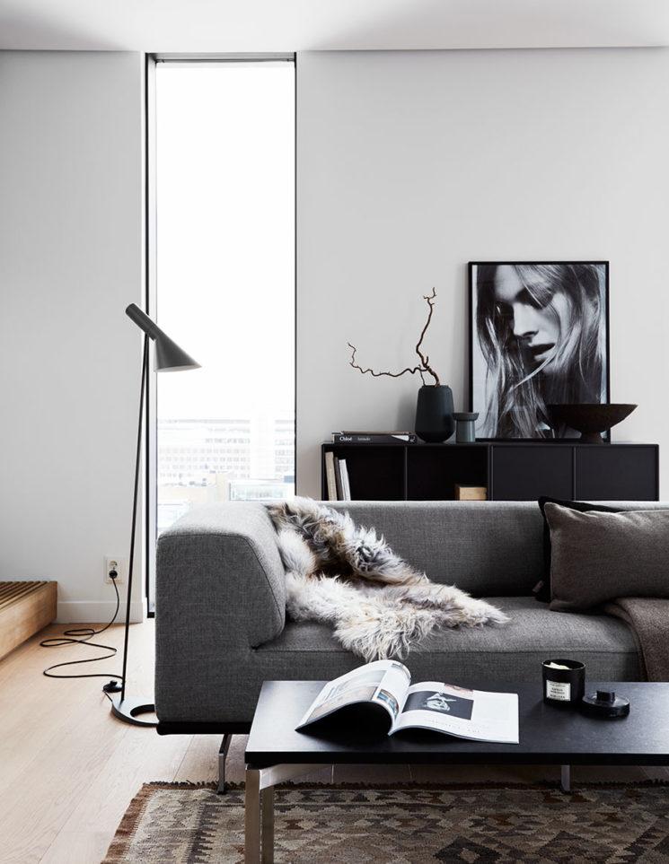L'art de mixer le mobilier actuel design || Le noir, le blanc et le gris