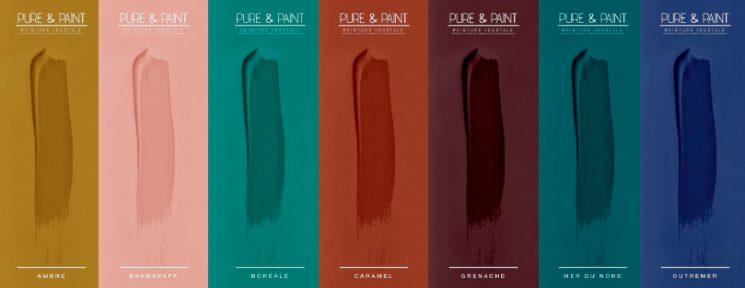 Les belles couleurs de la marque Pure & Paint