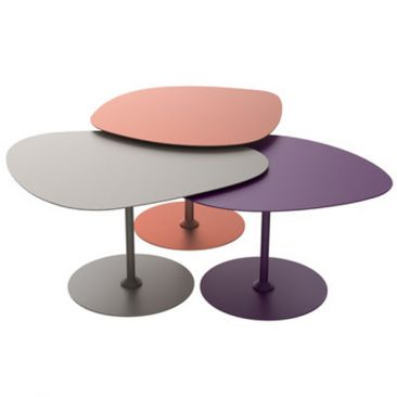 3 Tables gigognes outdoor, Galets - Matière Grise - 1379 €