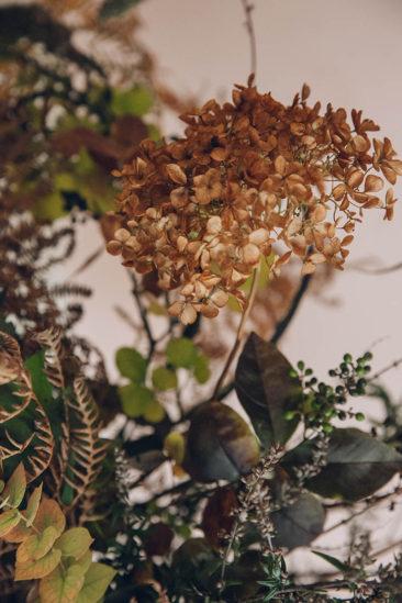 Bouquet d'hiver : fleurs séchées et branches nues || Swallows and Damsons