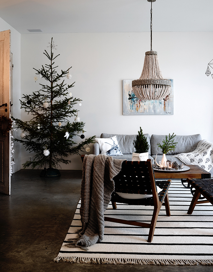 Un Décor De Noël En Noir Et Blanc Turbulences Déco