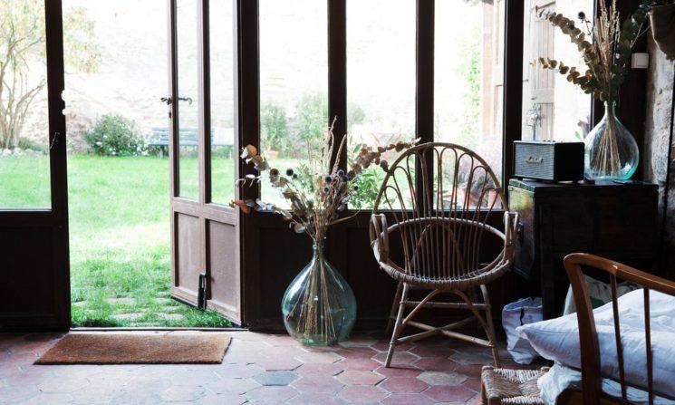 Bouquet d'hiver : fleurs séchées et branches nues || Alexandra Sarrazin home