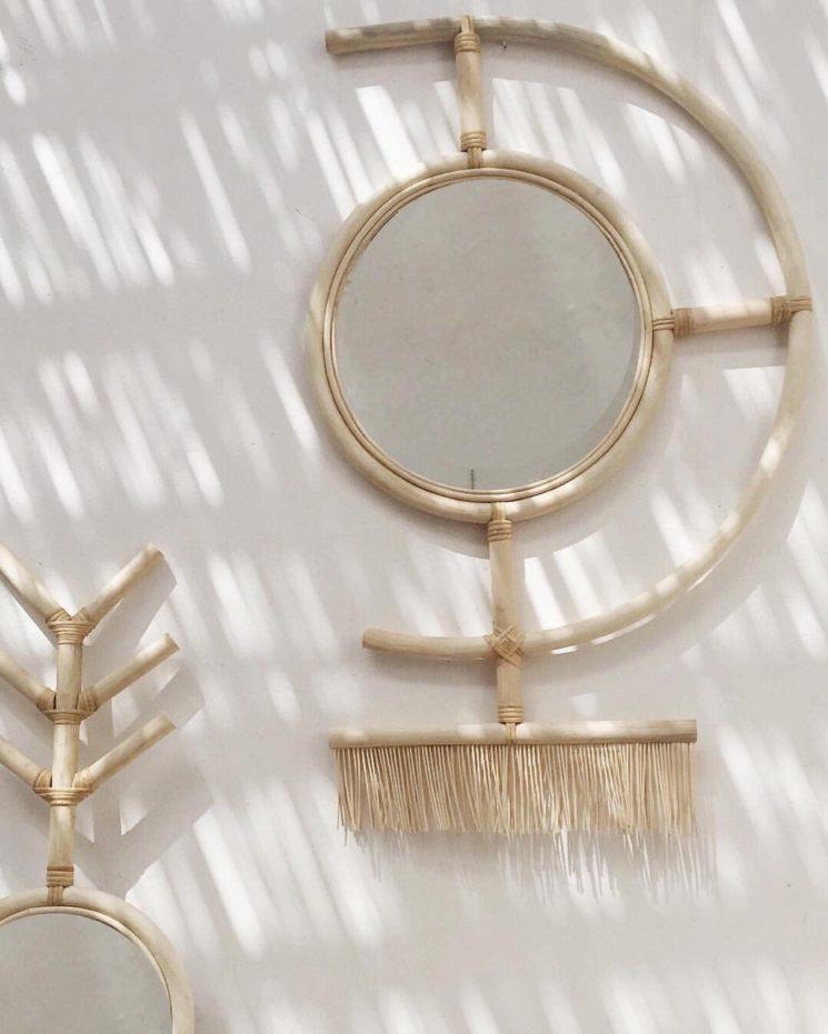 LRNCE design made in Maroc - Ligne de miroir en rotin