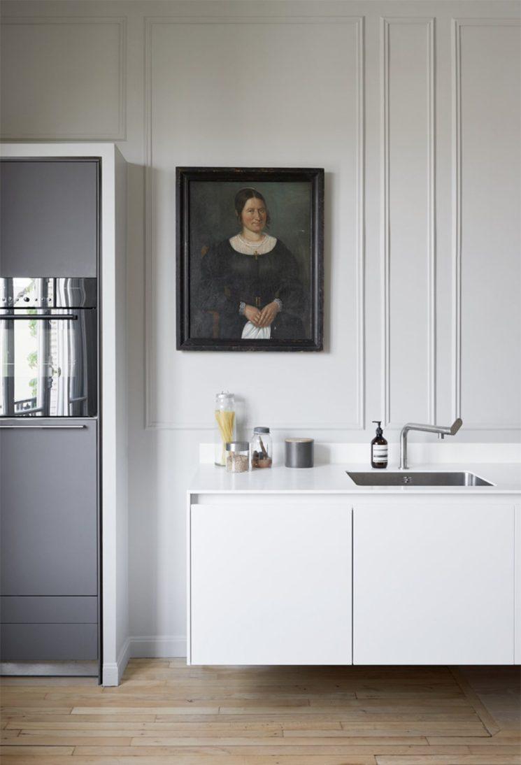 Quelques pistes pour une cuisine minimaliste = L'absence de plinthes