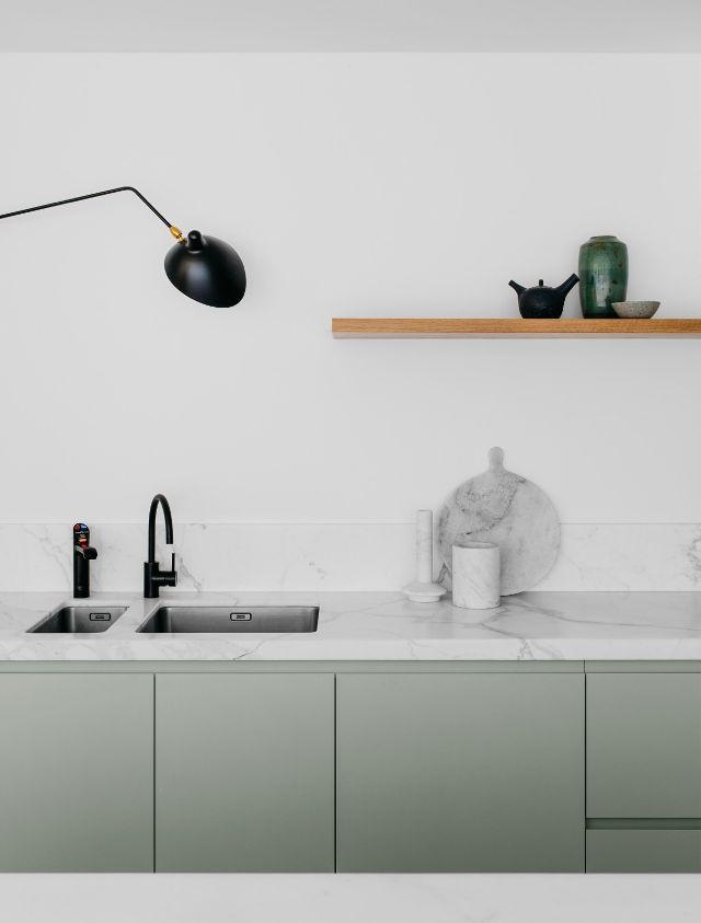Quelques pistes pour une cuisine minimaliste = L'absence de poignée
