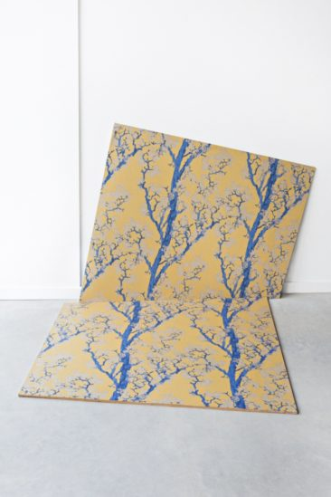 Marque de papier-peint Tenue de Ville - Collection Saudade - HANAMI safran