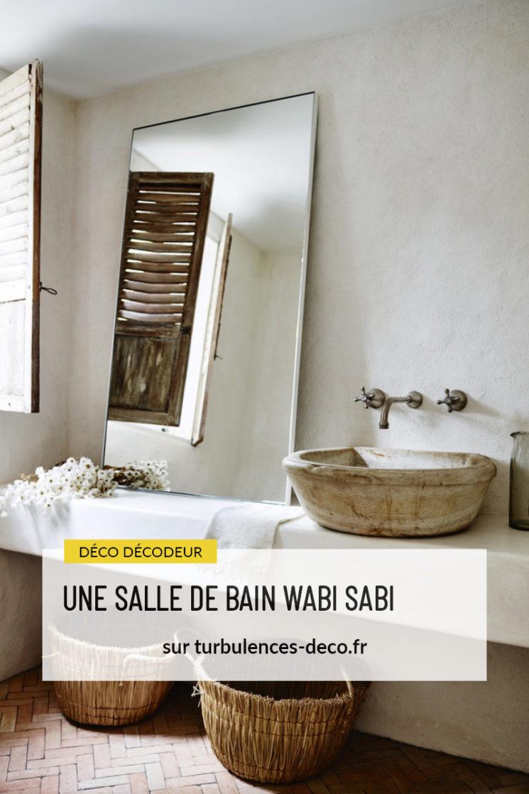 Une salle de bain Wabi Sabi à retrouver sur Turbulences Déco