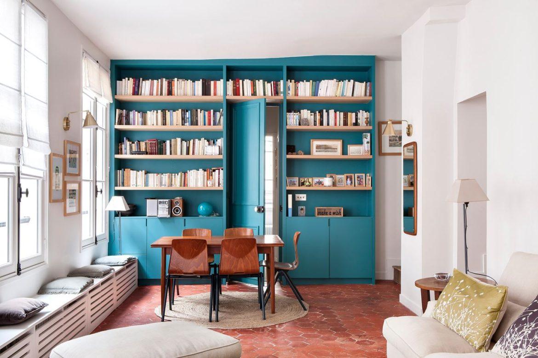 un appartement ancien dans le marais par camille hermand. Black Bedroom Furniture Sets. Home Design Ideas