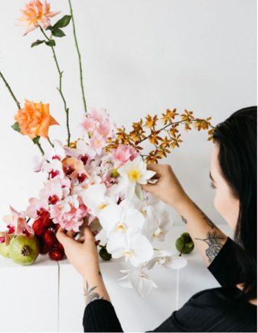 Les beaux bouquets d'Hattie Molloy || Concept-store Melbourne || via thedesignfiles
