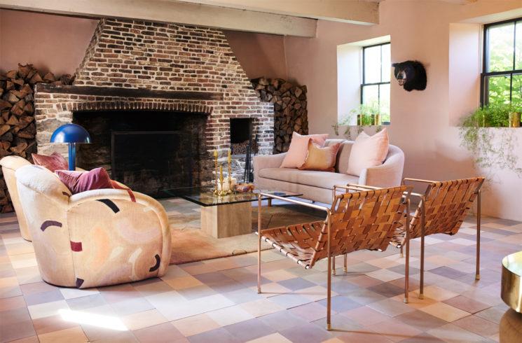 [ Inspiration déco ] Rose blush, Rose saumon || La maison de Paul Denoly et Nick Blaine du magasin Hawkins à New York
