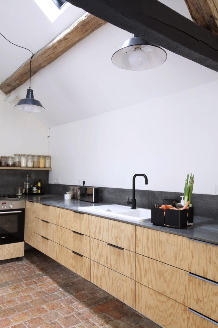 cuisine avec sol tomette o la trouveton with cuisine avec