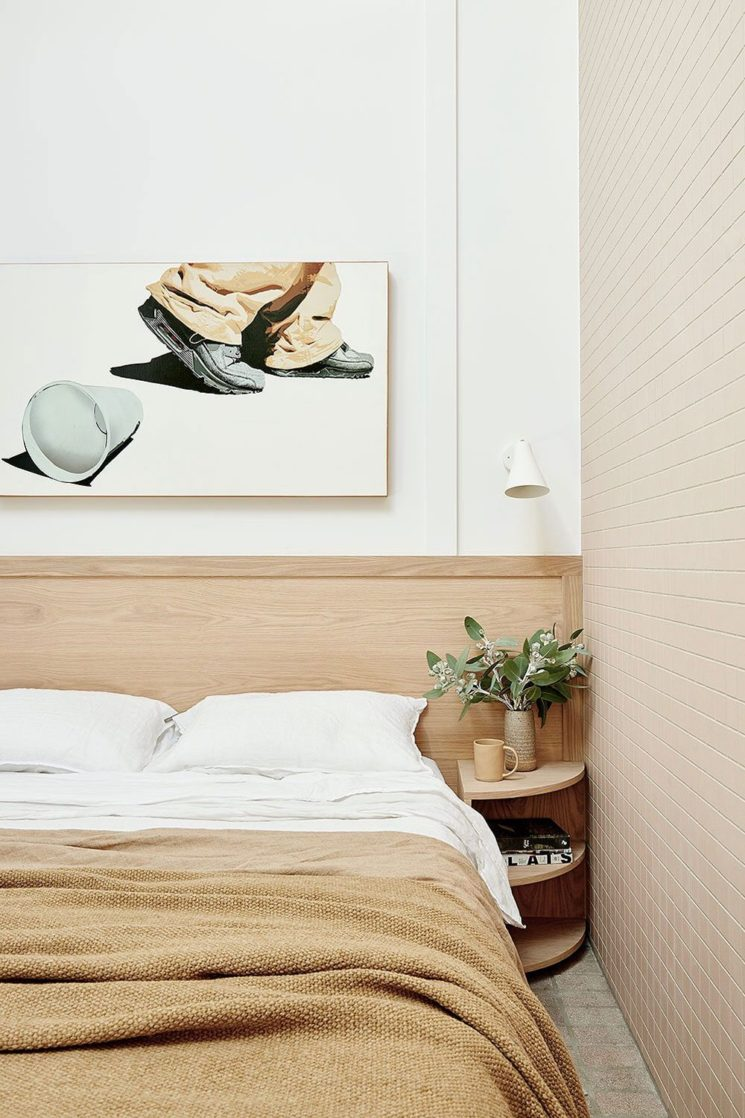 Canning cottage par l'agence Bicker (Melbourne) // Un chambre slow et design