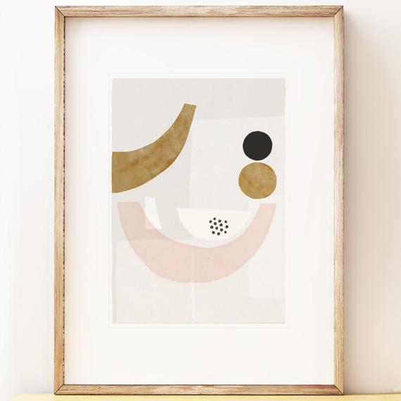 Affiche, poster, impression abstraite - Shape Colour Pattern sur Etsy
