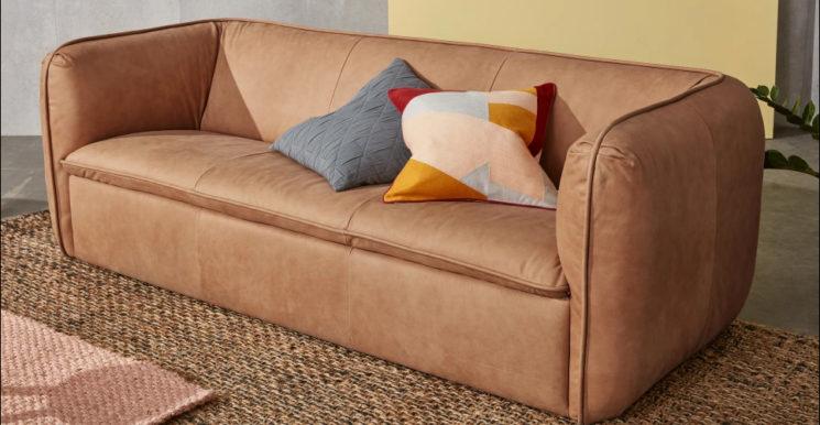 Canapé en cuir brun, Berko sur Made.com