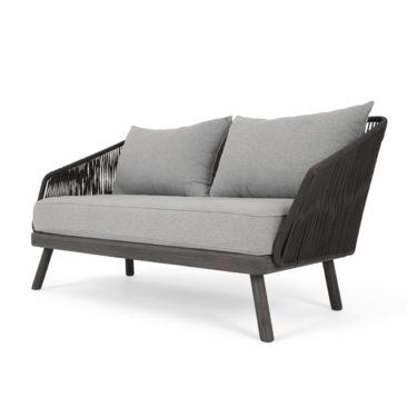 Canapé d'extérieur 2 places, gris acacia, Alif sur Made.com