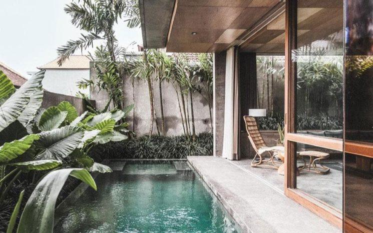 The Slow, hôtel boutique à Canggu Bali, une esthétique brutaliste tropicale
