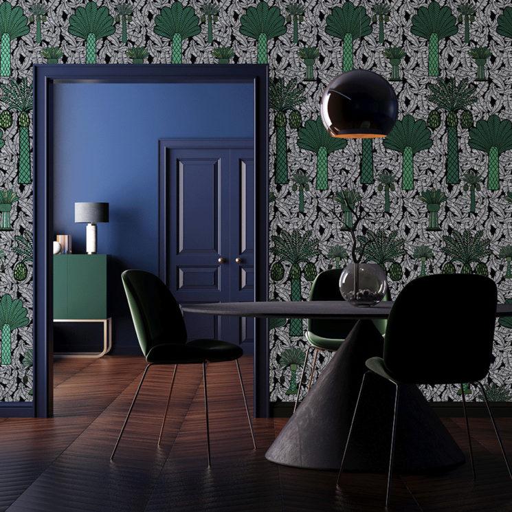 Collection de papiers-peints Sandrine Alouf & Au fil des couleurs - Motif BAGA