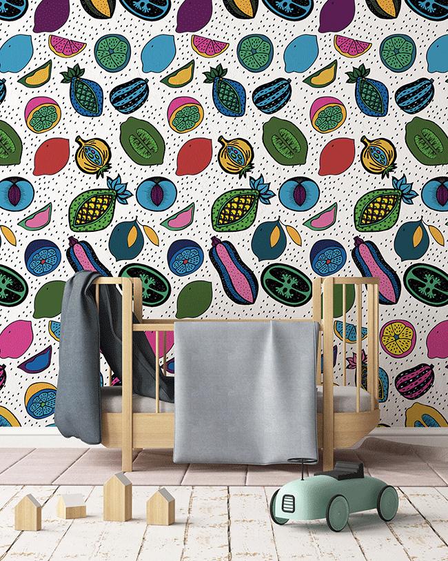 Collection de papiers-peints Sandrine Alouf & Au fil des couleurs - Motif ANAKI