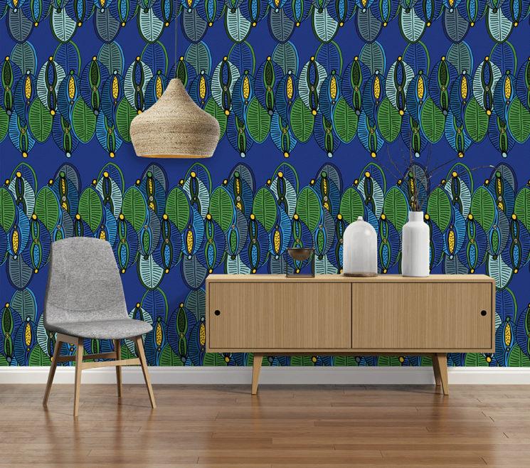 Collection de papiers-peints Sandrine Alouf & Au fil des couleurs - Motif DINKA