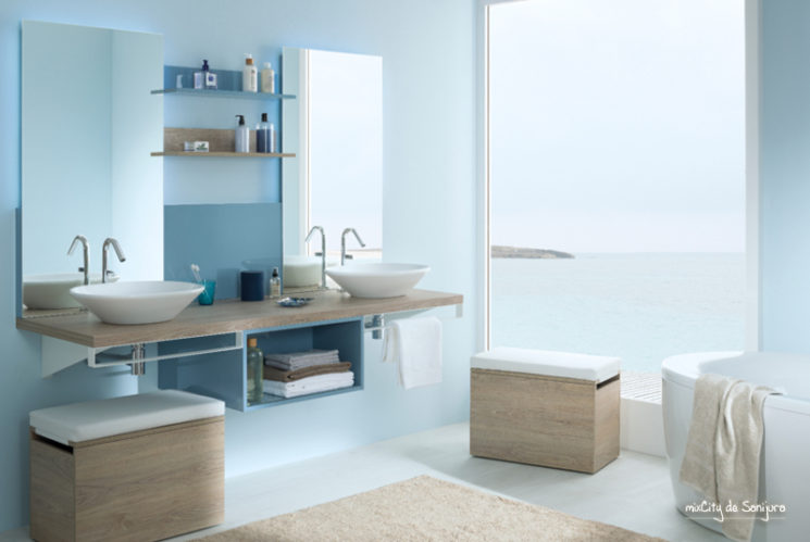 5 astuces pour une salle de bain style bord de mer. Black Bedroom Furniture Sets. Home Design Ideas