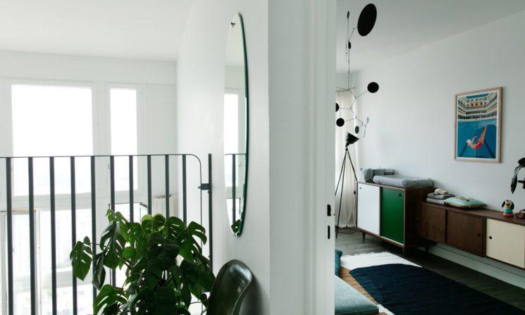 Inspiration déco : La mezzanine || Le duplex contemporain des fondateurs de la marque Kann à Paris