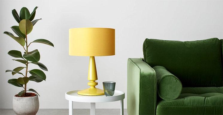 Lampe de table, vert chartreuse, Olivia - 59 € au lieu de 79 € sur Made.com