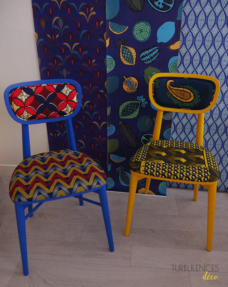 Collection de papiers,peints Sandrine Alouf \u0026 Au fil des couleurs, inspirée  du wax