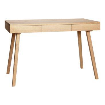 Sélection de petits bureaux en bois design || Bureau 3 tiroirs en chêne naturel, Hübsch