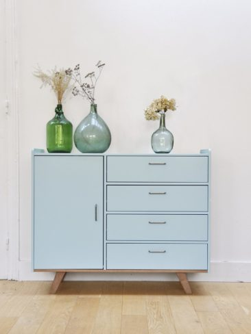 Meuble commode gris clair