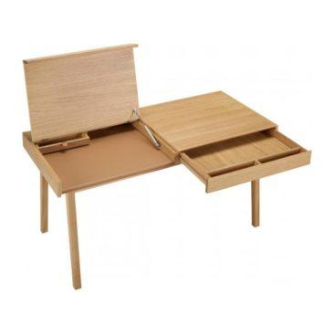 Sélection de petits bureaux en bois design || Bureau amovible en chêne Gerry, Habitat