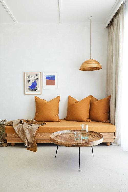 Le orange en déco et autres couleurs d'automne // Hôtel Les Roches Rouges