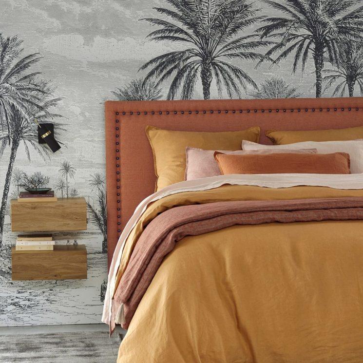 Tête de lit en lin lavé rouille, Yliana - La Redoute