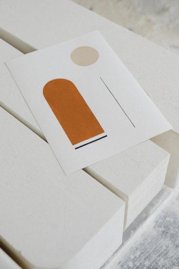 Le orange en déco et autres couleurs d'automne // Art printBobby Clark